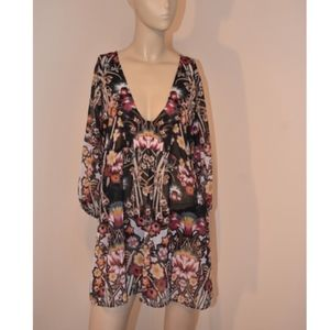 New Becca Floral Swimsuit Cover-Up XS